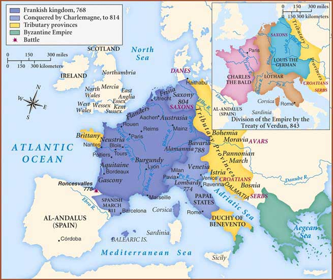 an introduction to the history of the frankish empire charlemagne